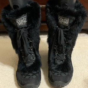Coach cold weather boots
